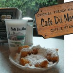 Caf au lait with Beignets