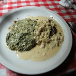 Tilapia with Crab Meat in a Spinach Cream Sauce