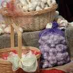 Garlic in Baskets