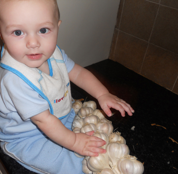 Baby with Garlic