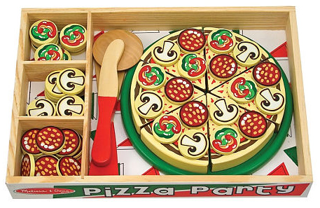 Wooden Pizza Party 63-piece Play Food Set