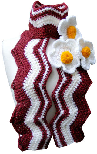 Bacon and Eggs Scarf