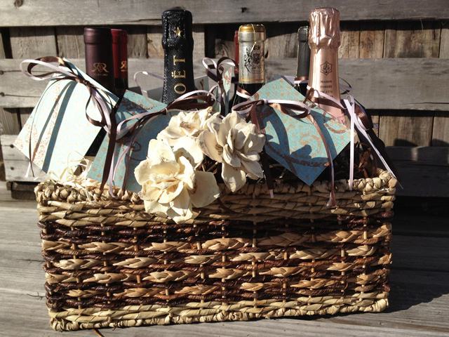 Wedding Gift Basket Wine : think Jackie really appreciated the basket and when Rich saw it his ...
