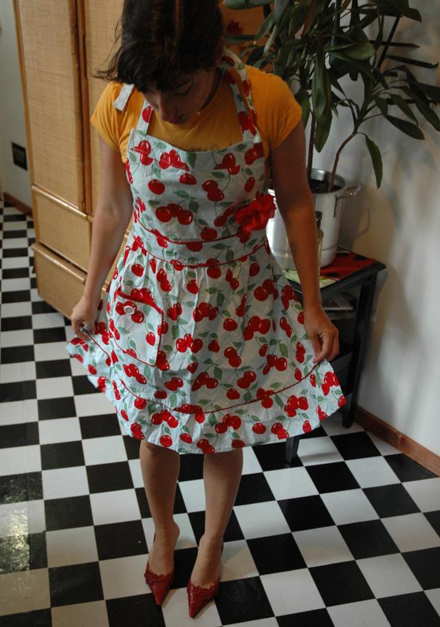 Me wearing apron!