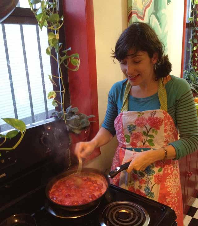 Paula Making Strawberry Jam