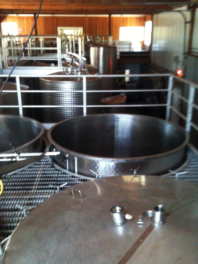 Fermentation Vats at Pellegrino Vineyards
