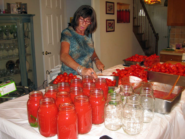 Jarring Tomatoes - Breezy Point