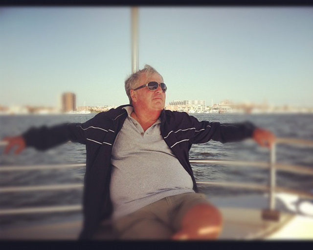 Dad on the Ferry