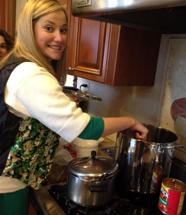 Clare Stirring the Jambalaya