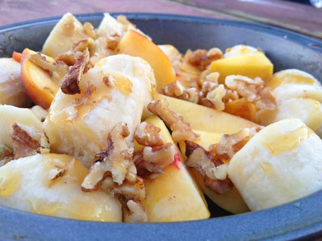 peach banana dessert