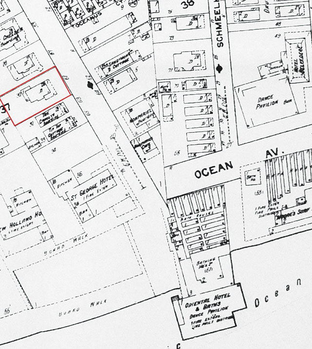 1912 Sanborn Map Rockway-Beach Detail