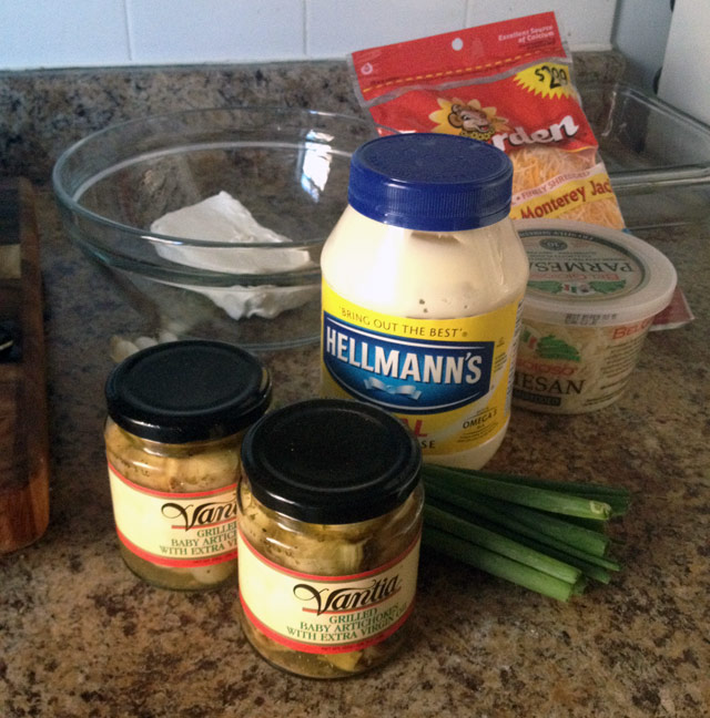 ingredients - easy three cheese dip