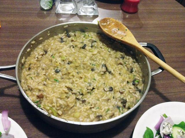 mushroom and leek risotto