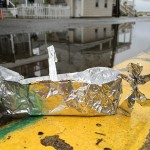 Sailing a tin foil boat in Rockaway Queens