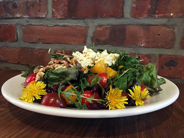 Dandelion-Gorgonzola-Salad
