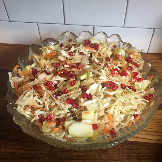 Pomegranate-Coleslaw