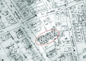 EXTRA Beach 91st St. formally Oceanus Ave. Note the 16 bungalows are present - Sandborn Map 1912