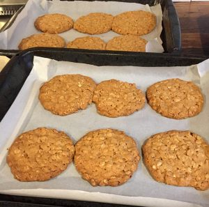 Hobnobs before adding the chocolate