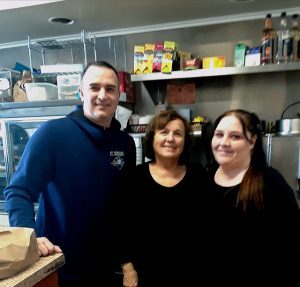 Nicholas Plevritis Kathy Plevritis and Waitress Sarah Gearin