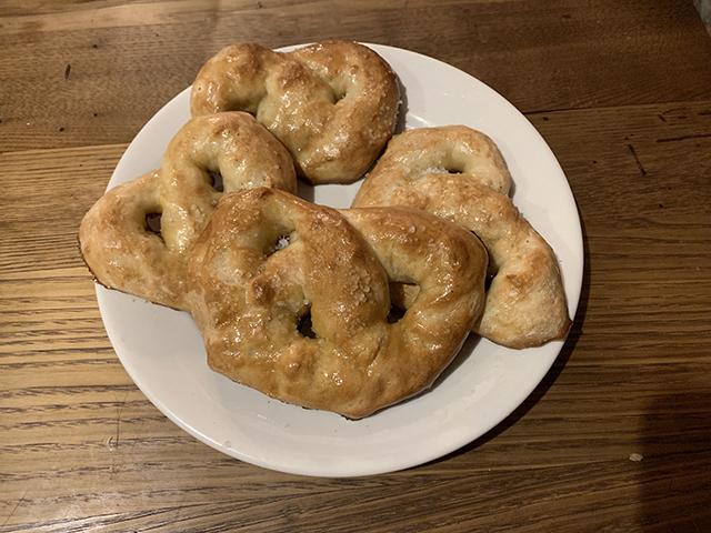 pretzel making