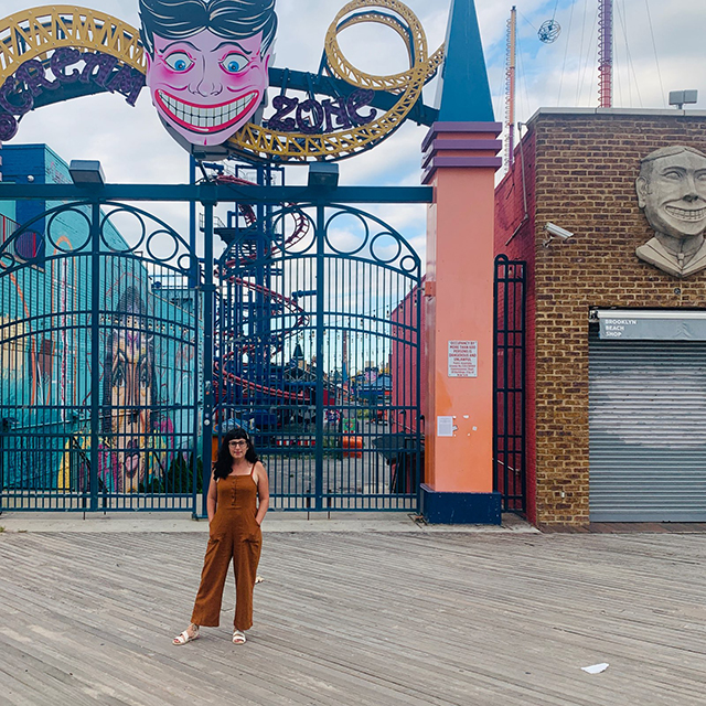 The attractions are closed at Coney island but there still so much to enjoy walking on the boardwalk