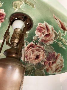 globe reverse painted vintage lamp